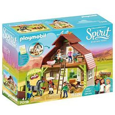 Playmobil Dreamworks Spirit 70118 Barn With Lucky, Pru & Abigail By Playmobil