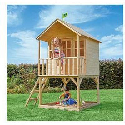 Tp Hill Top Wooden Tower Playhouse