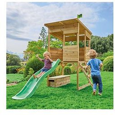 Tp Tree Tops Wooden Playhouse With Slide