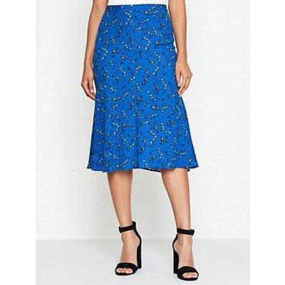Mcq Alexander Mcqueen Floral Print Skirt - Blue