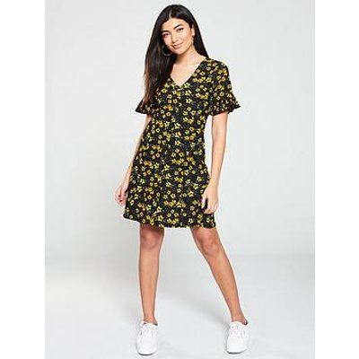 V By Very Textured Printed Tea Dress - Floral