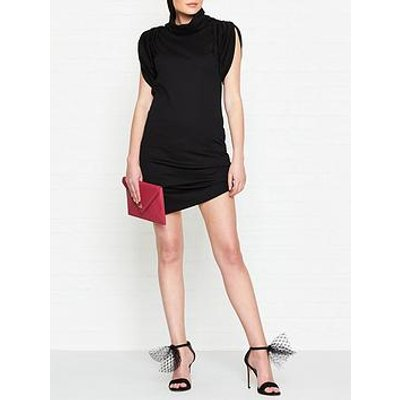 Vivienne Westwood Anglomania Punkature Short Sleeve Jersey Dress - Black