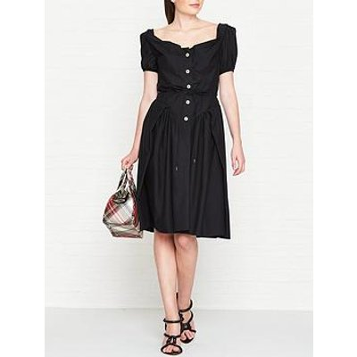 Vivienne Westwood Anglomania Short Sleeve Saturday Dress - Black