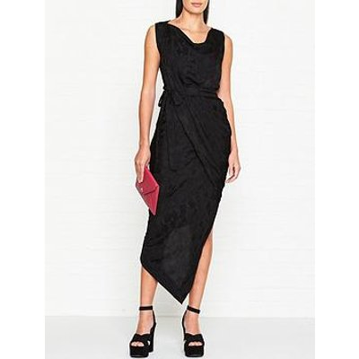 Vivienne Westwood Anglomania Vian Draped Floral Jacquard Dress - Black