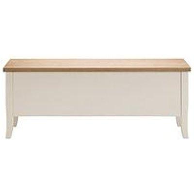 Julian Bowen Davenport  Solid Wood And Oak Veneer Storage Bench