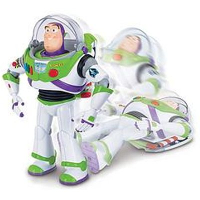 Toy Story Buzz Lightyear With Interactive Drop Down Action - 12 Inch Talking Action Figure