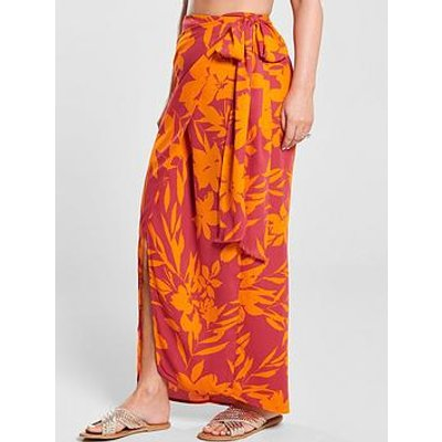 Kate Wright Side Tie Maxi Skirt - Floral Print