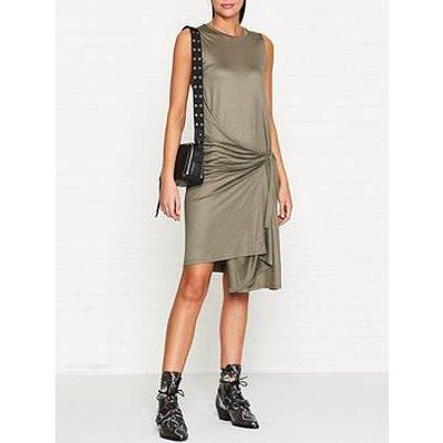 Allsaints Lisen Jersey Wrap Dress - Khaki