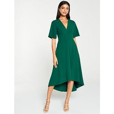 V By Very Kimono Sleeve Midi Dress - Green