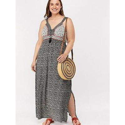 Monsoon Curve Monsoon Curve Gwen Print Beach Jersey Dress