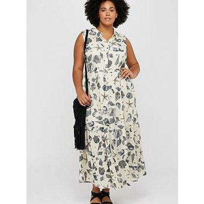 Monsoon Curve Monsoon Curve Andrina Shell Print Maxi Dress