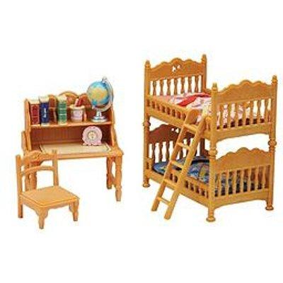 Sylvanian Families Children'S Bedroom & Comfy Living Room Twin Pack