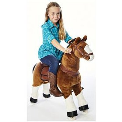 Ponyrider Ride On White Hoof Pony, Light Brown Ages 4+