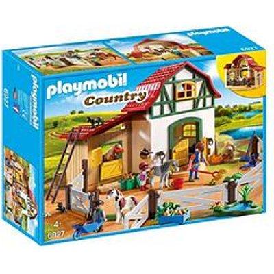 Playmobil Playmobil 6927 Country Pony Farm With 2 Pony Stalls And Storage Loft
