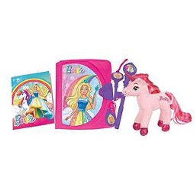 Barbie Barbie Electronic Secret Diary And Unicorn Plush Gift Set