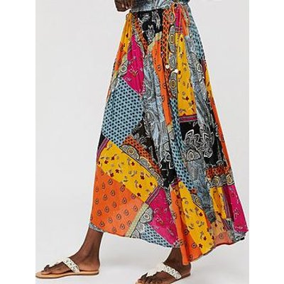Monsoon Mina Print Maxi Skirt - Multi