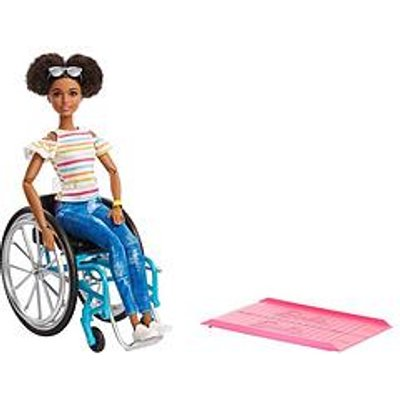 Barbie Doll With Wheelchair &Amp; Ramp