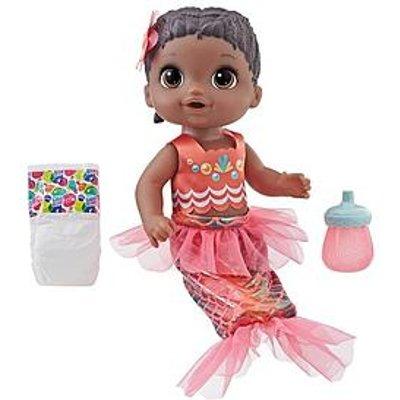 Baby Alive Baby Alive Shimmer `N Splash Mermaid Baby Doll (Black Hair)