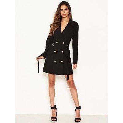 Ax Paris Black Blazer Dress