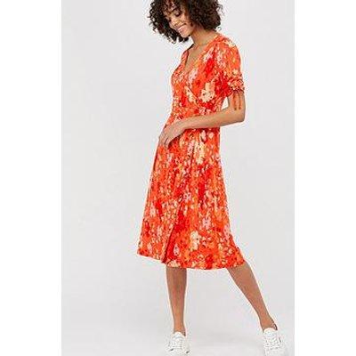 Monsoon Nigela Jersey Print Midi Dress - Red