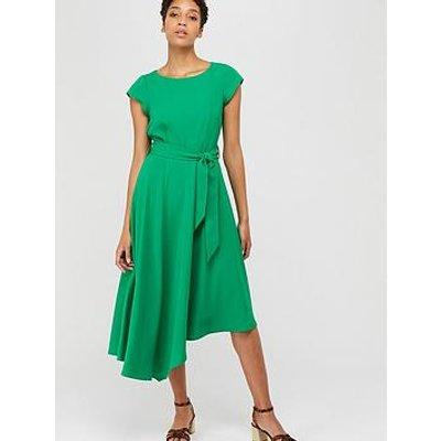 Monsoon Francoise Asymmetric Fit &Amp; Flare Dress - Green