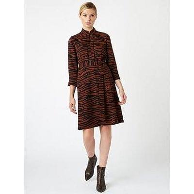 Hobbs Domina Dress - Tobacco Black