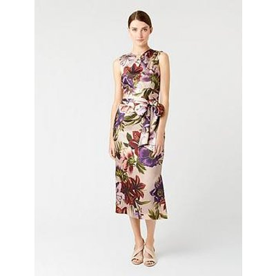 Hobbs Printed Thao Dress - Blush Multi