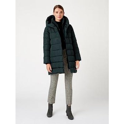 Hobbs Hadley Padded Coat - Deep Ivy