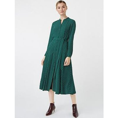 Hobbs Tarini Dress - Green/Ivory