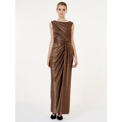Hobbs Mia Maxi Dress - Gold
