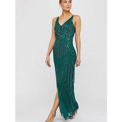 Monsoon Eva Embellished Maxi Dress - Green