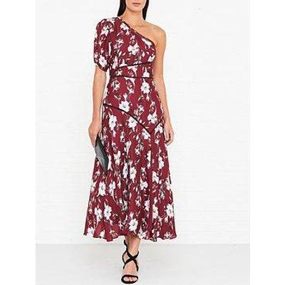 Talulah Cannes One Shoulder Midi Dress - Burgundy