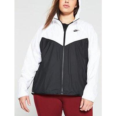 Nike Nsw Fem Jacket (Curve) - Black/White