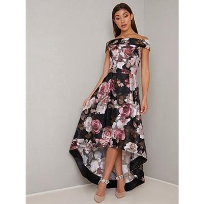 Chi Chi London Chi Chi London Monty Floral Print Midi Dress