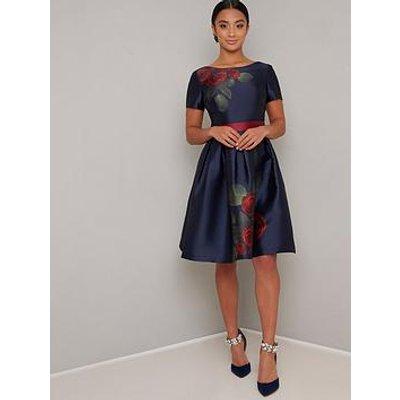 Chi Chi London Wrena Dress - Navy