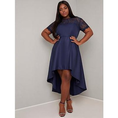 Chi Chi London Curve Jasper Dress - Navy