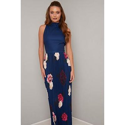 Chi Chi London Sansa Dress - Navy