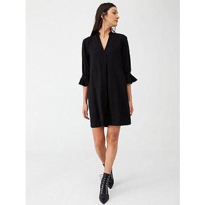 Whistles Sonia Frill Sleeve Dress - Black