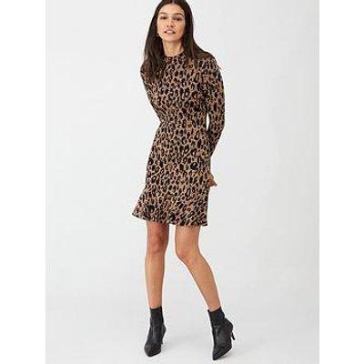 Whistles Animal Print Flippy Dress - Brown/Multi