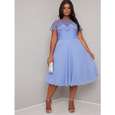 Chi Chi London Curve Curve Simoni Dress - Blue