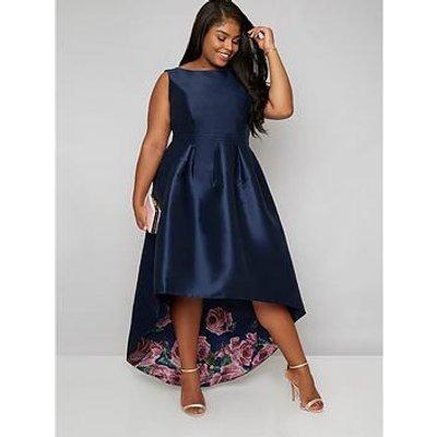 Chi Chi London Curve Curve Daniella Dress - Navy