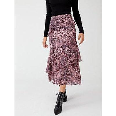 Whistles Wild Cat Print Skirt - Pink Multi
