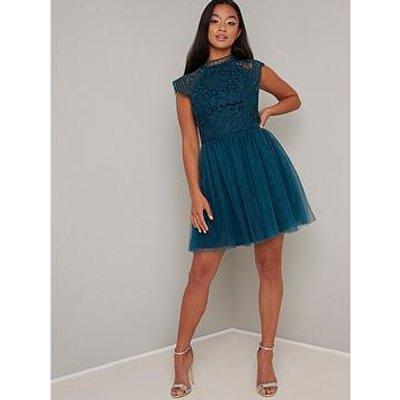 Chi Chi London Raelyn Dress - Teal
