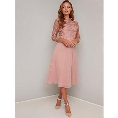 Chi Chi London Melina Dress - Rose Gold