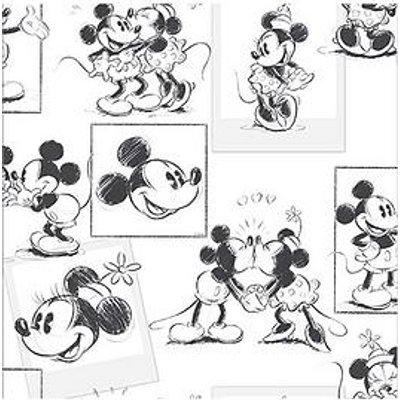 Disney Mickey & Minnie Sketch Wallpaper