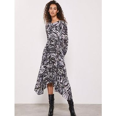 Mint Velvet Izzy Print Puff Sleeve Midi Dress - Multi