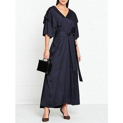 Vivienne Westwood Anglomania Berta Satin Belted Dress - Navy