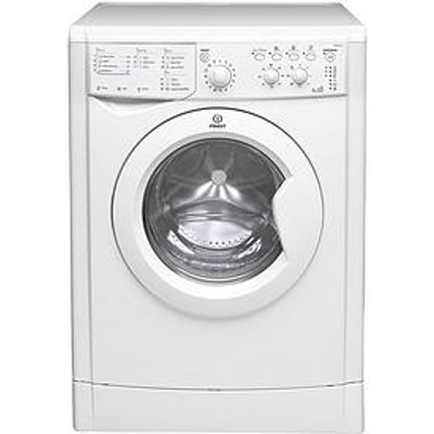 Indesit Iwdc65125Ukn 1200 Spin, 6Kg Wash, 4Kg Dry Washer Dryer - White