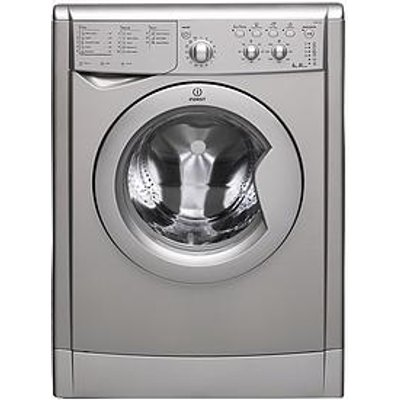 Indesit Iwdc6125S 1200 Spin, 6Kg Wash, 5Kg Dry Washer Dryer - Silver