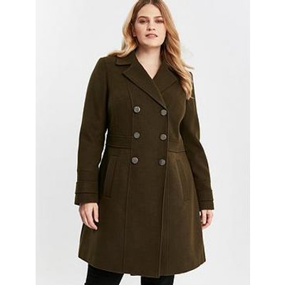 Evans Military Coat - Khaki